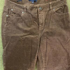 Talbots Gray Corduroy Pants-great condition!